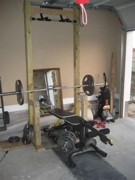 Pull Up Garage Door by Garage Workout Station With Pull Up Bar Made With 4x4