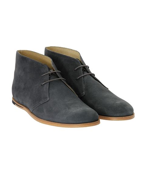 opening ceremony grey suede desert boots in gray for