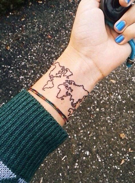 tattoo wrist wanderlust explore wrist world map tattoo tatted pinterest