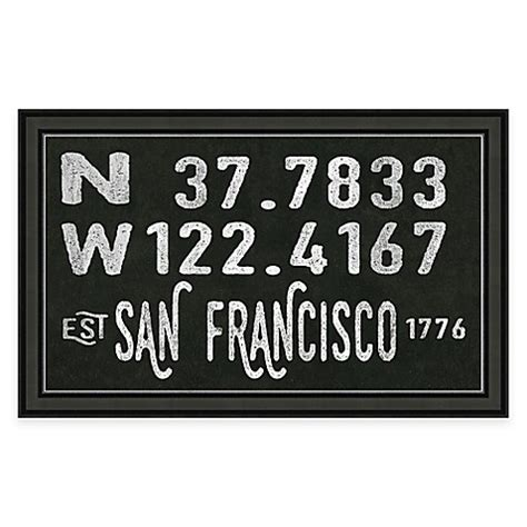 bed bath beyond sf san francisco california coordinates framed wall art