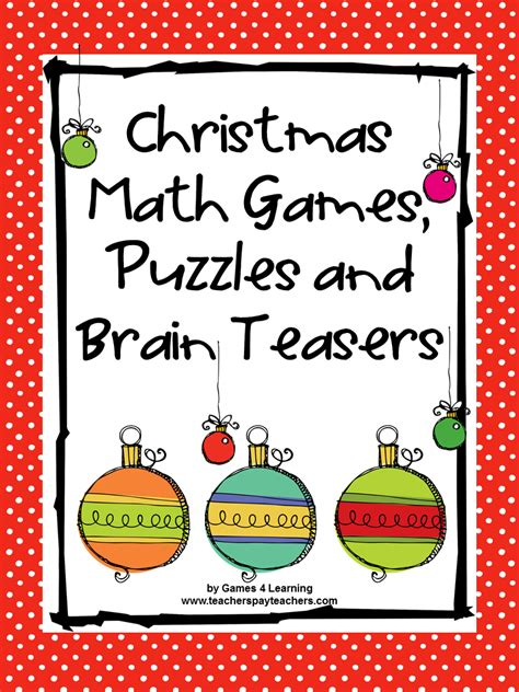 printable christmas math games fun games 4 learning december 2014