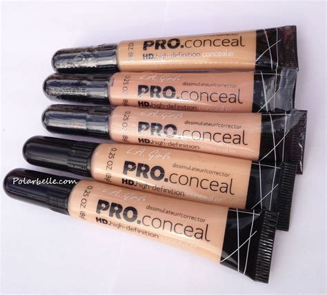 Makeup La polarbelle la pro conceal hd high definition concealer swatches and review the one you want