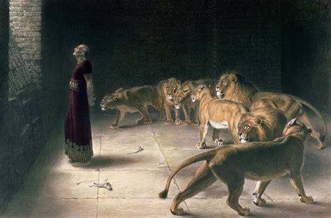 Daniel In The Lions Den Painting By Briton Riviere
