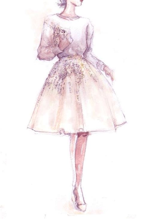 Pink Sketches by Fashion Sketch Pink And White Scetches