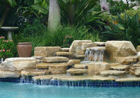 pool waterfalls swimming pool waterfall designs pool design ideas