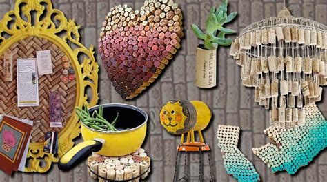 clever wine cork crafts youll fall  love