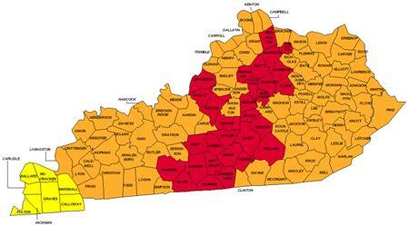 time zone map kentucky cities kentucky map of radon zones