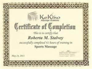 Massage Certificate Template Massage Tlc Roberta Stalvey Advanced Eft Practitioner