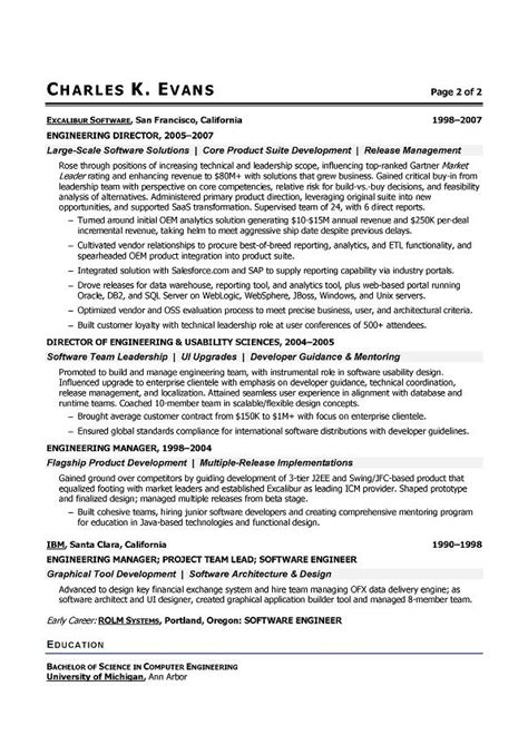 Senior Software Engineer Resume by Senior Software Engineer Sle Resume