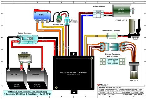 razor scooter battery wiring diagram 36 wiring diagram