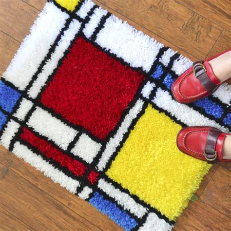 How To Finish A Latch Hook Rug Custom Rugs In Spanish Latch Hook Rugs For