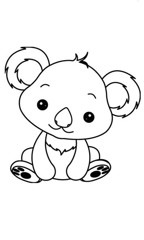 imagenes animales para bebes imagen de koala animales bebe para dibujar e iluminar