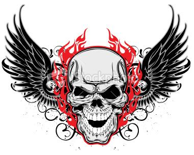 skull with wings tattoo guns concept winged skulls for tattoos