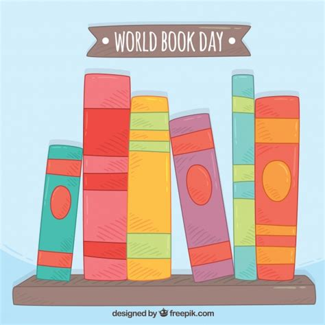 a colored the world books background of colored books for world book day vector