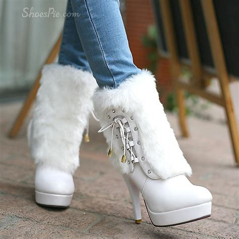 high quality white stiletto heels boots shoespie