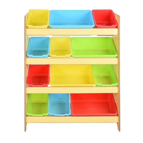 bedroom storage bins toys storage children kids shelf rack plastic boxes tubs