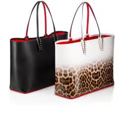 Christian Louboutin Ironica Handbag by Cabata Tote Bag Black Calfskin Handbags Christian