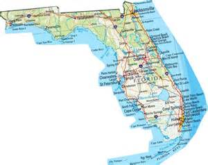 florida map of state map of florida fl state map