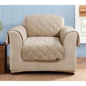 sure fit 174 reversible suede sherpa chair pet cover
