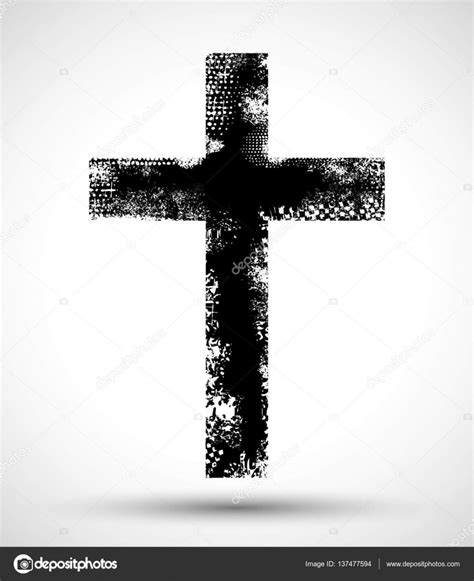 grunge christian cross stock vector 169 jonnydrake 137477594
