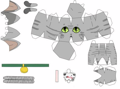 Papercraft Cats - cat papercraaft by johananderssongx on deviantart