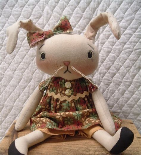 Handmade Rabbit - handmade teddy bears and raggedies handmade primitive