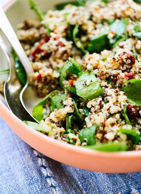 quinoa salad sun dried tomato spinach and quinoa salad cookie and kate