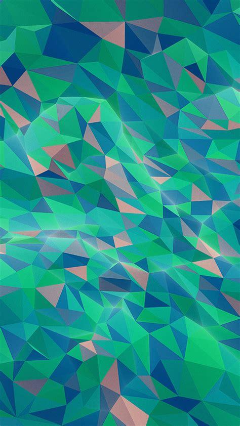 vt abstract polyart pattern green wallpaper