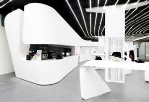 Interior Design Of Stores Heidi Com Flagship Boutique By Zaha Hadid Architects