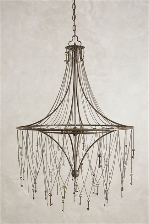 Skeleton Chandelier Skeleton Key Chandelier Contemporary Chandeliers