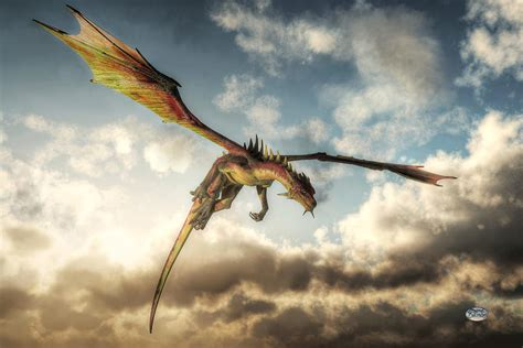 Posters For Home Decor flying dragon death from above digital art by daniel eskridge