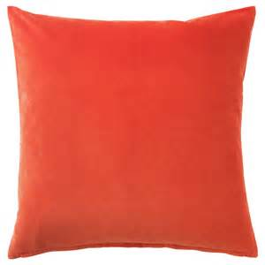 Slip Covers For Cushions Sanela Cushion Cover Orange 50x50 Cm Ikea