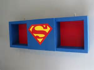superman supergirl shadow box shelf home decor cubbie