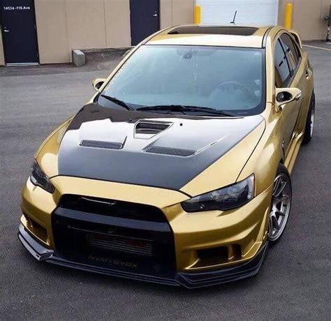 mitsubishi gold gold wrapped evo x cars i evo cars