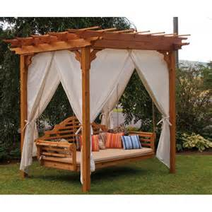 Outdoor Curtains For Pergola Enhanced Homes