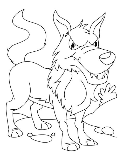 angry wolf coloring page angry wolf coloring pages download free angry wolf