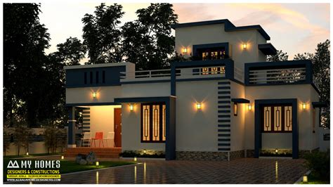 wellsuited simple home design contemporary kerala and floor plans 975 square feet 2 bedroom single floor modern budget home
