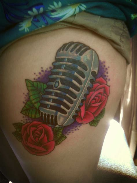 tribal microphone tattoo amazing mic best design ideas