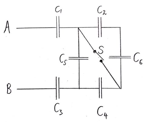 capacitor circuit parallel capacitor capacitance of convoluted circuit electrical engineering stack exchange