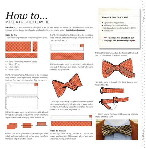 how to make a bow tie how to make a bow tie selvedge magazine
