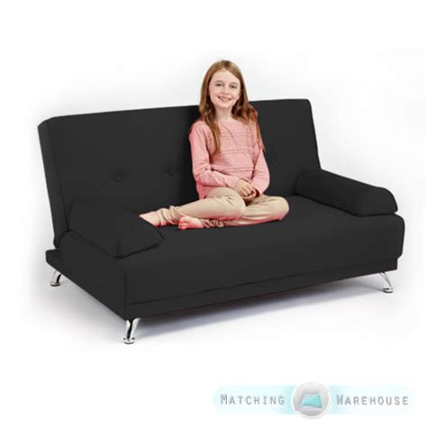 kid futon childrens cotton twill clic clac sofa bed with armrests