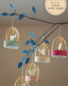 inspired celebration diy decorations paper bird cage