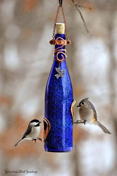 Beautiful Bird Feeders Beautiful Diy Wine Bottle Bird Feeders