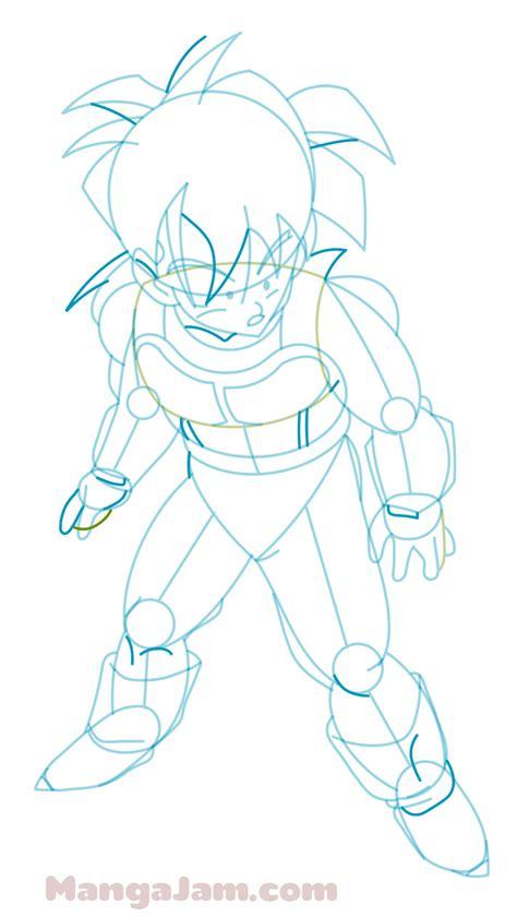 How To Draw Saiyan Armor