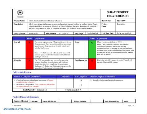 project status report email template unique status update
