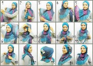 tutorial berhijab modern cara berhijab modern foto cara pemakaian shikhatululyam2k