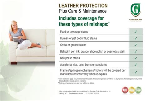 Guardian Furniture Protection by Guardian Leather Protection Plus Care Maintenance