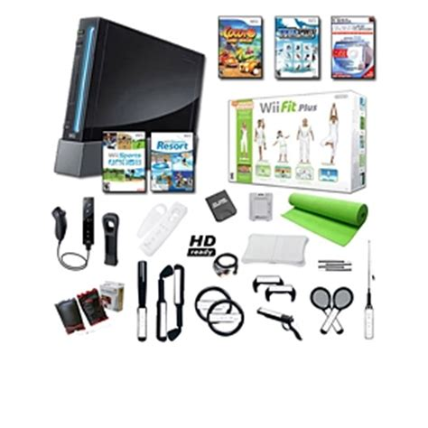 nintendo wii console bundle with wii fit plus pack nintendo wii black ultimate fit plus bundle black wii