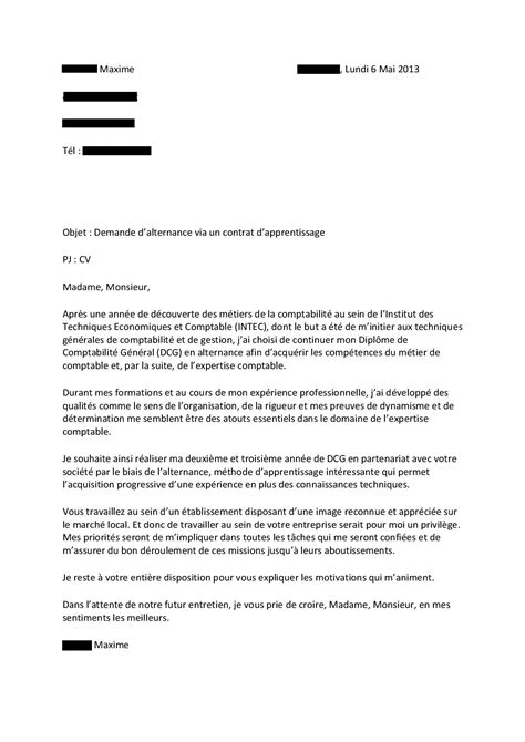 Lettre De Motivation De Dcg Modele Lettre De Motivation Alternance Dcg Document