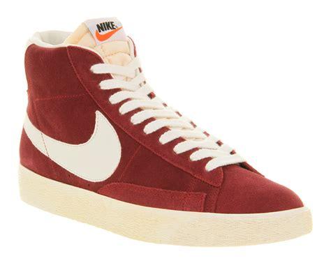 nike blazer high suede vintage sneakers lyst nike blazer hi suede vintage team in for